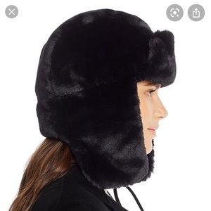 echo faux fur trapper hat